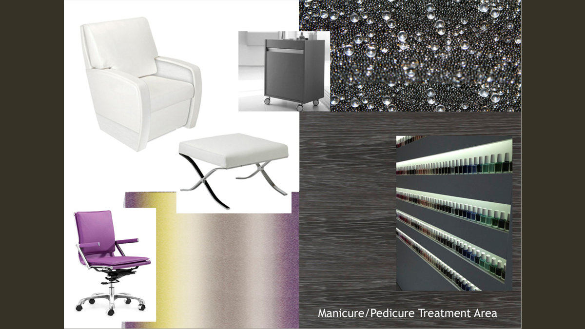 Manicure + Pedicure Area Design Images